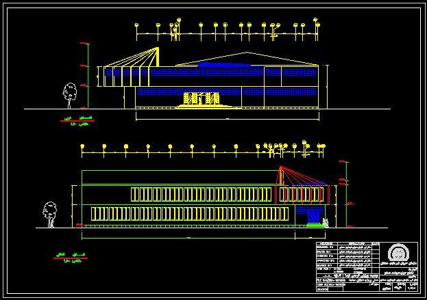دانلود نقشه اتوکد معماری و سازه استخر سرپوشیده فایل دوم